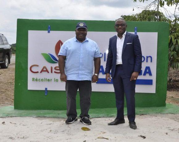 Le président Ali Bongo Ondimba visite la plantation d'Alanga
