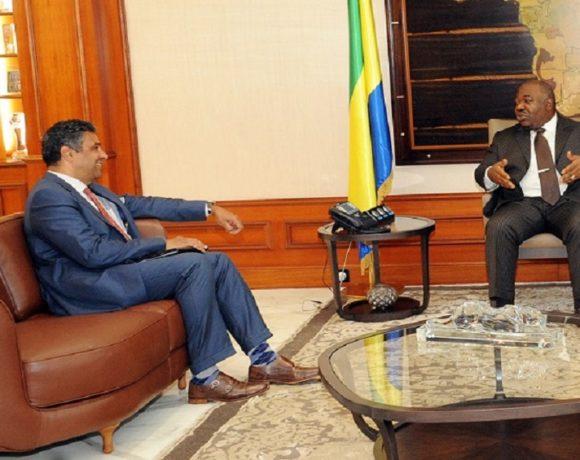 Tête à tête entre le Président Ali Bongo Ondimba et S.E.M. Joël Danies (Ambassadeur des Etats-Unis d'Amérique au Gabon)