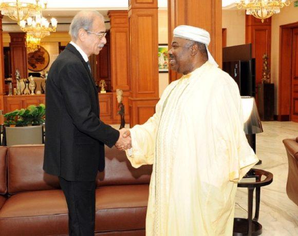 Ali Bongo Ondimba et Shérif Ismaïl Mohammed Ismaïl
