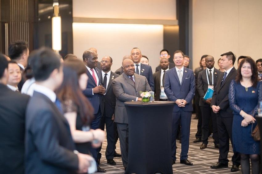 Le président Ali Bongo Ondimba et les investisseurs chinois