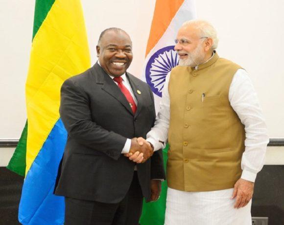Le Premier ministre indien et le président Ali Bongo