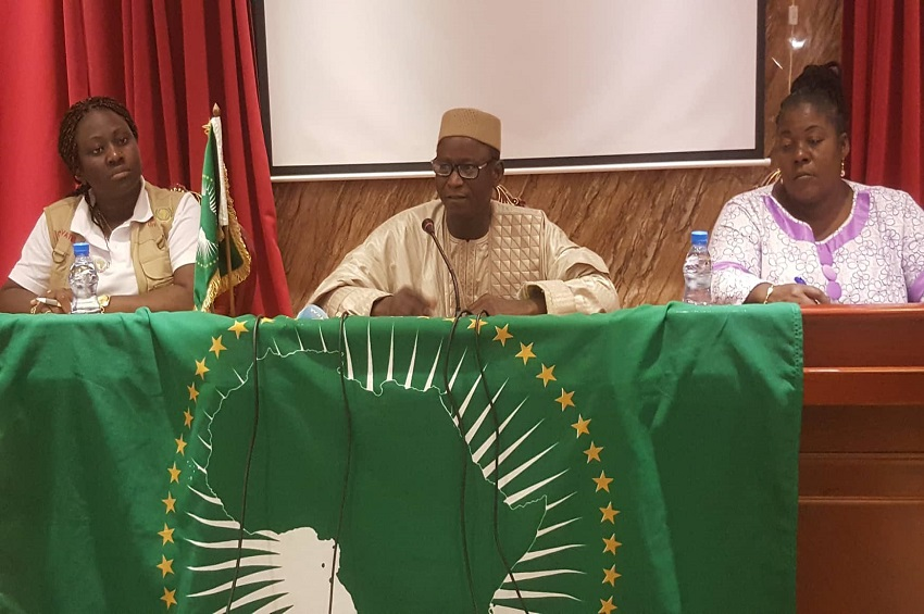 Les observateurs de l'Union africaine (photo gabonactu)