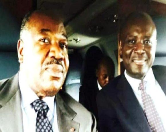 Ali Bongo Ondimba et Bruno Ben Moubamba