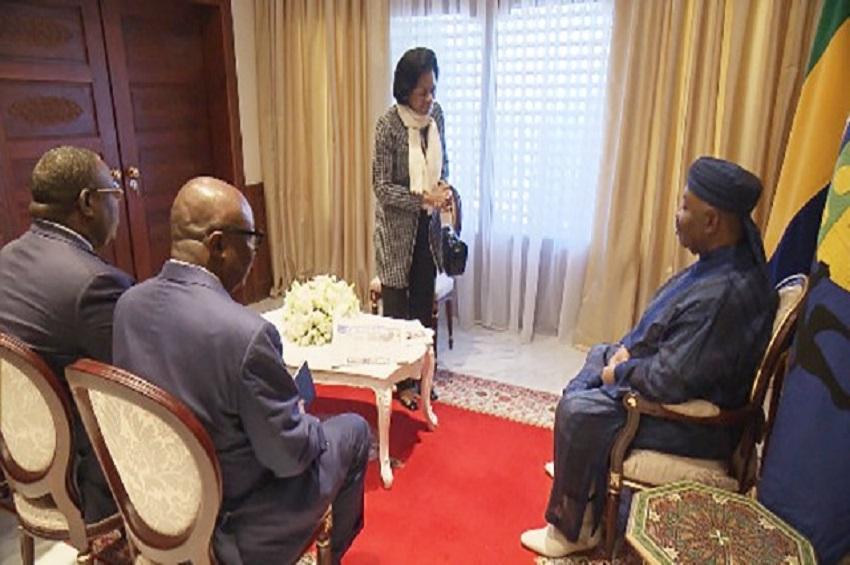 Ali Bongo Ondimba reçoit des personnalités gabonaises