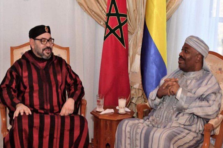 Le Roi Mohammed VI rend visite au président Ali Bongo Ondimba