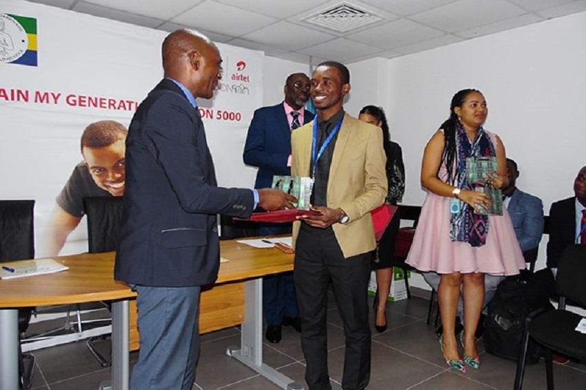 Les lauréats de Train My Generation Gabon 5 000