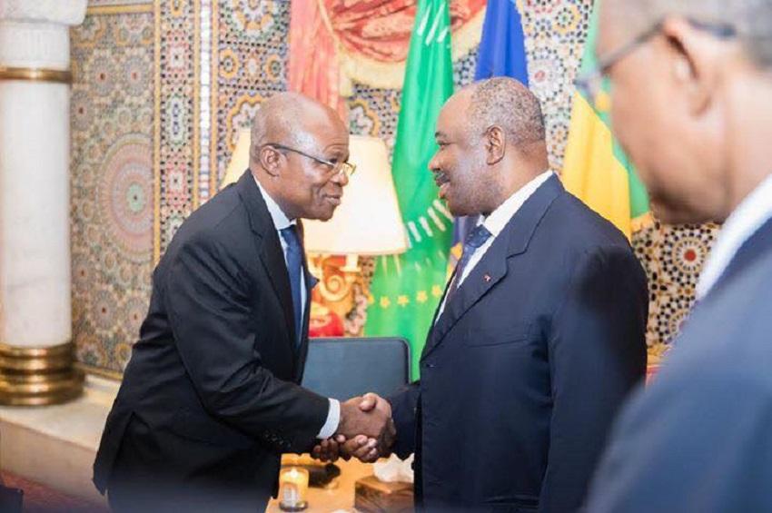 Le président Ali Bongo Ondimba et Faustin Boukoubi