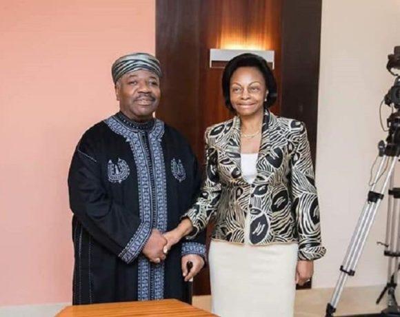 Le président Ali Bongo Ondimba et Marie Madeleine Mborantsuo