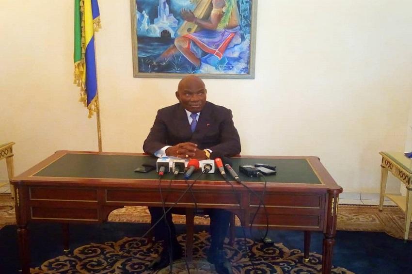 Le président Zacharie Myboto
