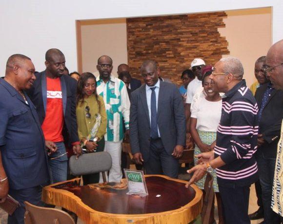 Eric Dodo Bounguendza et sa délégation à la ZES de Nkok