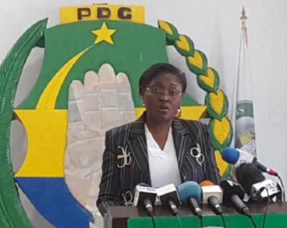 Estelle Flore Angangou, porte-parole du PDG