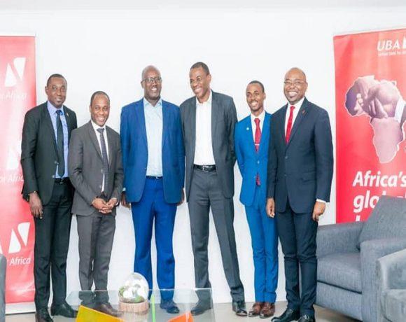 La délégation de UBA Gabon à l'incubateur SING