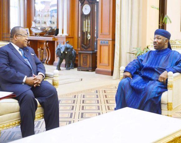 Julien Nkoghe Bekale reçu par le président Ali Bongo Ondimba
