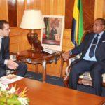 Julien Nkoghe Bekale recoit le responsable de CIMAF