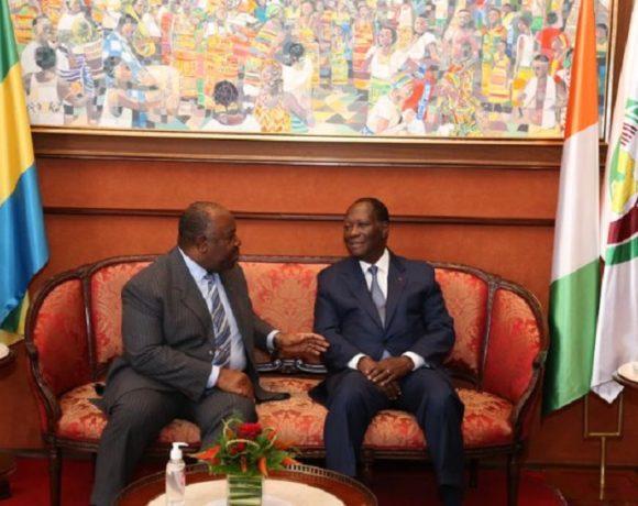 Alassane Ouattara et Ali Bongo Ondimba