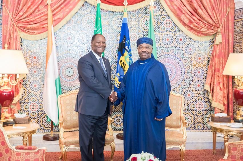 Ali Bongo Ondimba et Alassane Dramane Ouattara