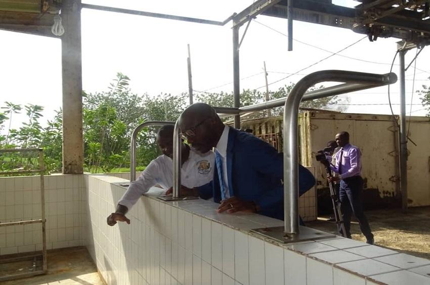 Biendi Maganga Moussavou à l'Abattoir d'Owendo