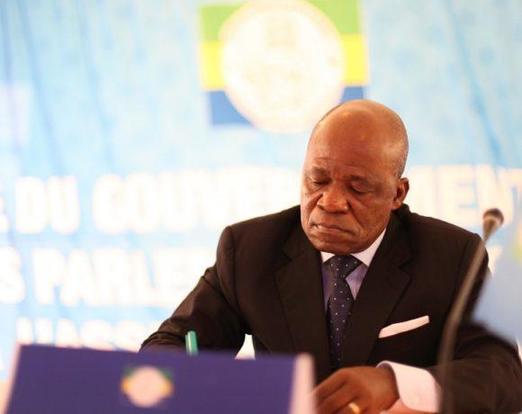 Faustin Boukoubi, président de l'Assemblée nationale du Gabon