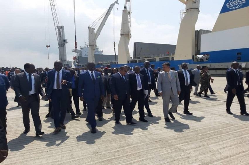 Inauguration du nouveau quai et le port de pêche d'Owendo