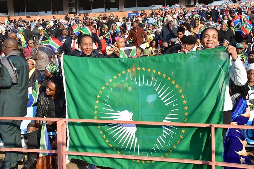 Julien Nkoghe Bekale était à Pretoria