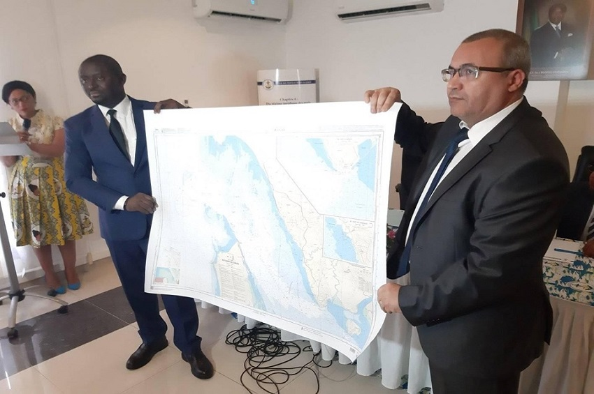 La carte maritime présentée