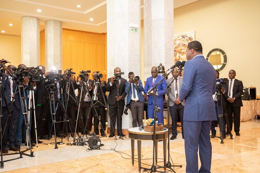 La conférence de presse de Faure Gnassingbé à Libreville