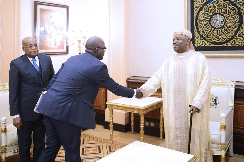 Le président Ali Bongo Ondimba reçoit le Dg de la CDC