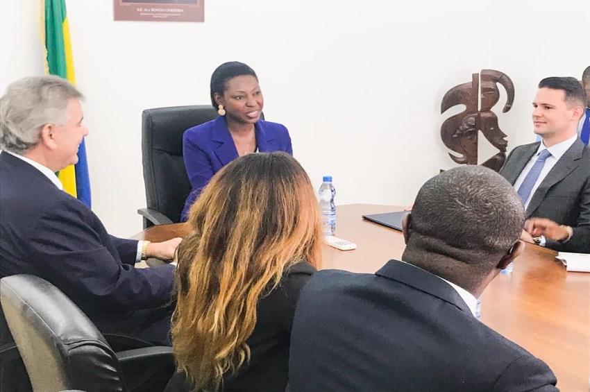 Le président d'Asperbras chez Carmen Ndaot