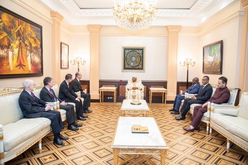 Les Ambassadeurs des pays membres du Conseil de sécurité chez Ali Bongo Ondimba