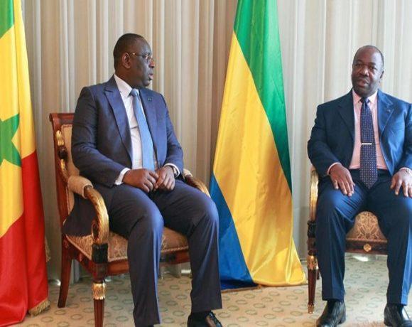 Les présidents Macky Sall et Ali Bongo Ondimba