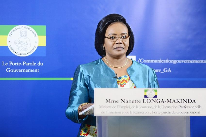 Mme Nanette Longa Makinda, porte-parole du gouvernement gabonais
