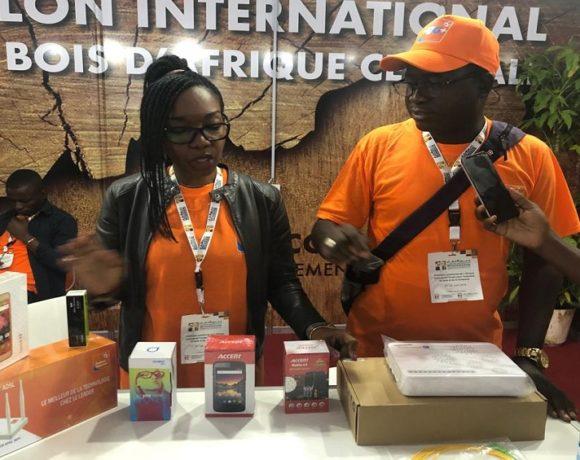 Les produits de exposés au stand de Gabon Telecom