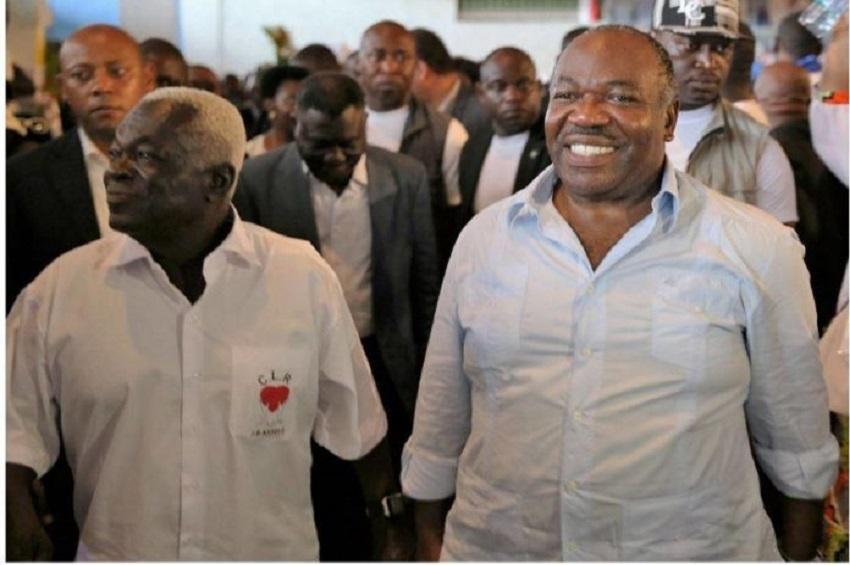 Jean Boniface Assele et Ali Bongo Ondimba