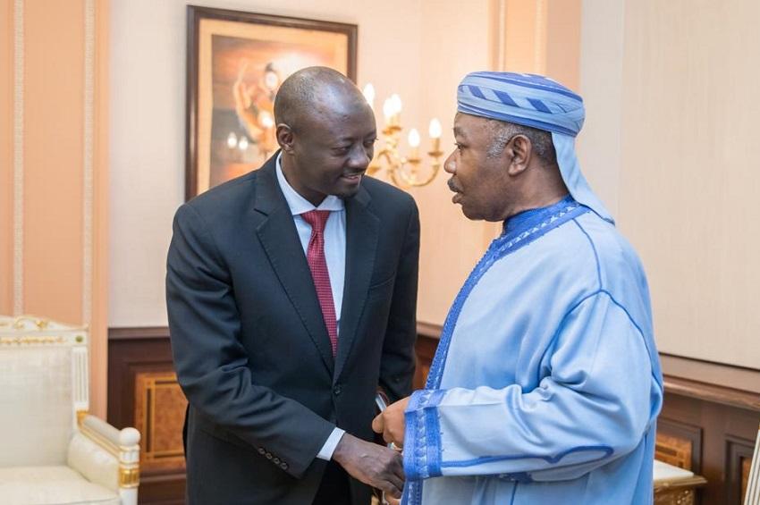 Le président Ali Bongo Ondimba et le gouverneur de la Beac